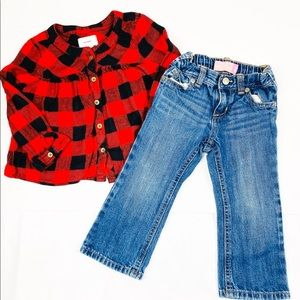 Old Navy Matching Sets - Old Navy Fall Plaid Long sleeves Top with pants